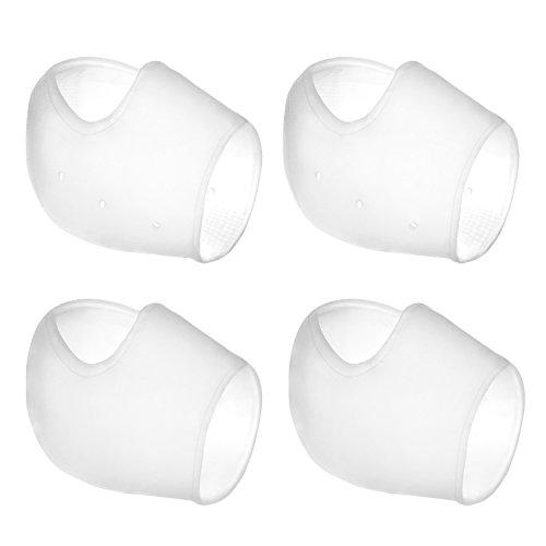 2 Pares Calcetines de Gel Silicona Calcetines Protector de Salón para Cuidado de Piel de Pies, Reducir Presión en Talón y Aliviar Dolor de Talón, 4 Piezas