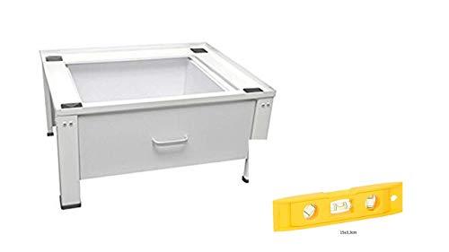 *Standart Untergestell für Waschmaschine oder Trockner Sockel Podest Erhöhung Unterschrank für Kühlschrank, Hochwasserschutz.NEU MIT SCHUBLADE FREI HAUS Aktion Wasserwaage*
