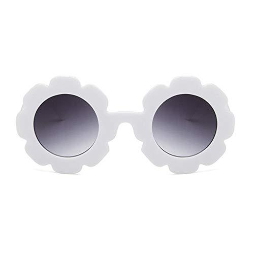 Sonnenblume Kinder Universal Anti-UV-konkave Form personalisiert niedlich Harz und Pc exquisite Sonnenbrille - solide weiße graue Linse