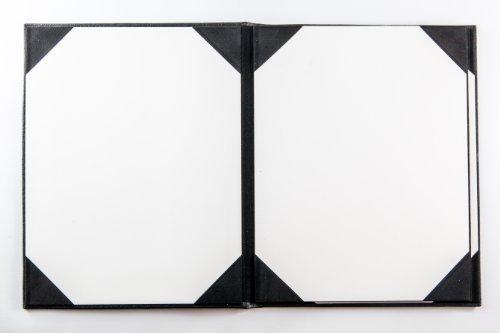 Speisekarten in Kunstleder (10er Pack) - A4 - 6 Einschübe - Schwarz