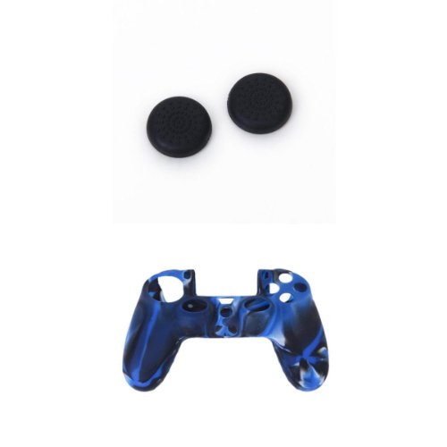 1 Set Tapas Joystick Caps +Funda Silicona Case Para Sony PlayStation 4 PS4 Mando 31eXbysKhdL