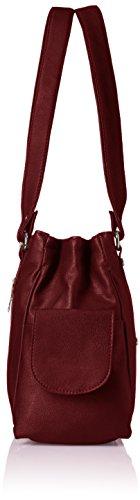 Fantosy Three Partition Women's Handbag (FNB-124, Maroon)