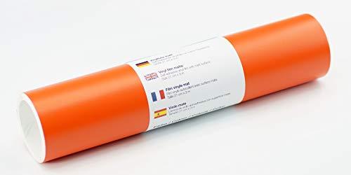 Selbstklebende Wandtattoo-/ Plotterfolie Vinylfolie matt 21 cm x 3 m, Farbe:Orange -