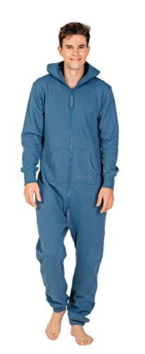 Moniz Herren Jumpsuit (XXL, Jeans Blau)