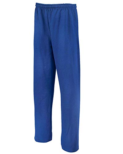 Jerzees Adult NuBlend Open-Bottom Sweatpants with Pockets Blue 3XL Womens Open Bottom Sweatpants