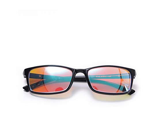 Red Green Colour Blind Glasses für Männer Frauen korrektive Achromatopsie, Rot-Grün-Blindheit, Farbschwäche, Mild Medium Grade, Black Frame