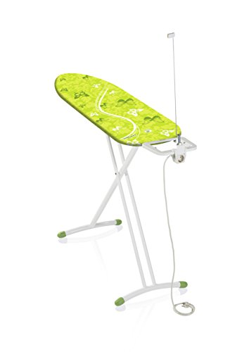 Leifheit 71638 Air Board M Solid Plus, Bügeltisch, Metall, shiny grün, 49 x 8 cm