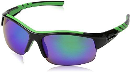 Eyelevel Herren Sportbrille Meteor Schwarz (Black/Green), onesize