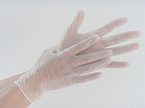 100 petites vinyle Transparent/naturel Non stérile gants jetables sans poudre - Trasparente Monouso Guanto Dispenser