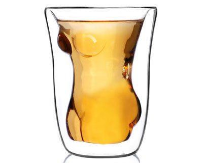 exciting Lives Exciting Lives Naked Woman Glass