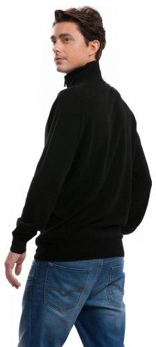 Strickjacke Herren (Reißverschluss) - 100% Kaschmir - von Citizen Cashmere Schwarz
