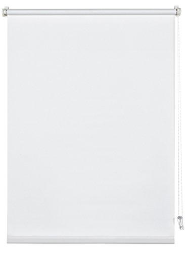 Deco company 23-1014 tapparella a rullo a morsetto o adesiva, tessuto, bianco, 45 x 150 cm