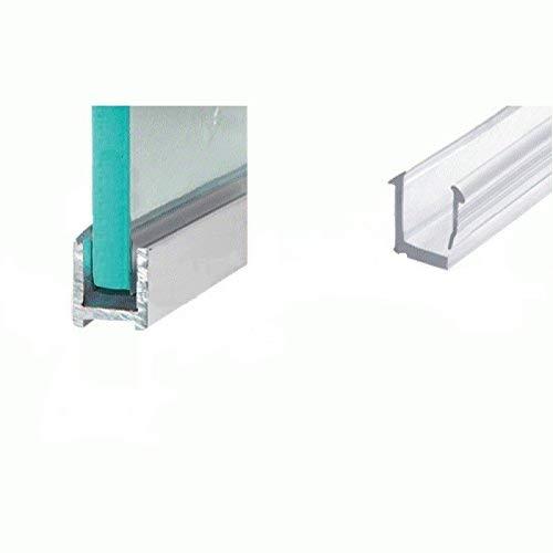 Aluminium Duschkabinen U-Profil 150 cm schmal für 8mm Glasstärke Chromoptik
