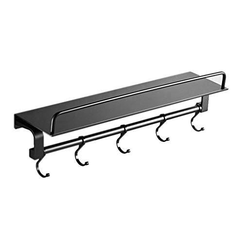 Willesego Badezimmer-Regal-Abteilungs-Trennwand-Haken-Wand-Raum Aluminium (Größe: 40cm) (Farbe : -, Größe : 50cm) - Tief Regal Holz Bücherregal