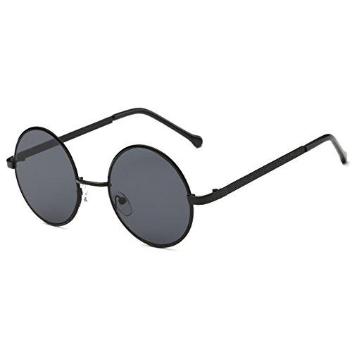 Hibote Herren Damen Runde Sonnenbrille - Kreis Metall Reflektierende Spiegel Sonnenbrille Mode Brille Vintage Gläser UV400