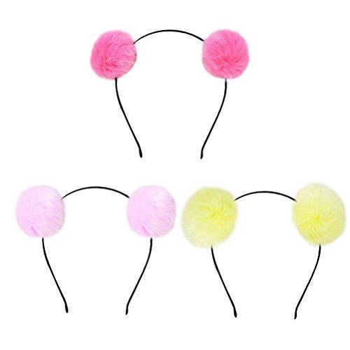 Frcolor Fuzzy Pom Pom Ball Haarband Katze Ohr -