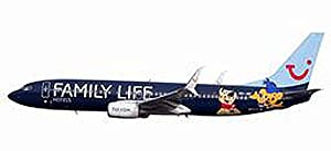 Herpa 611145 B737-800 Jetairfly-Family Life, Color
