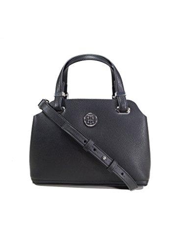 Tommy Hilfiger Damen Handtasche Tasche TH Core M Satchel Schwarz AW0AW05123-002 (Satchel Tasche Handtasche)