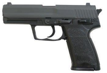 HFC HA112 Airsoft Spring/Federdruck Pistole in Schwarz, Nachbildung des P8 Stil Shooter, unter 0.5 Joules, No Hop up, GRATIS 2000 BULLDOG BBS 0.20G