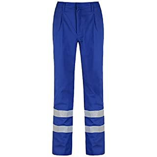 Alsico Alsi Trouser With Reflective Tape (40R (31'), Royal Blue)