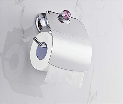 Amgend Luxus Chrome Polnischen Lila Kristall Toilettenpapierhalter Wc Papierhalter Toilettenpapierhalter Bad-Accessoires