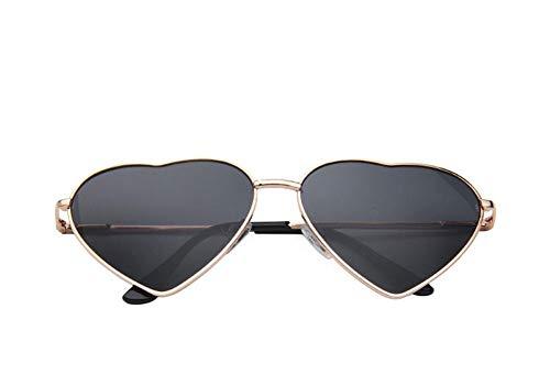 Drawihi Mode Romantische herzförmige Polarisierte Sonnenbrille Gradient Sportbrille UV400 Schutz Damen für Reise Sport im Freien(Schwarz)