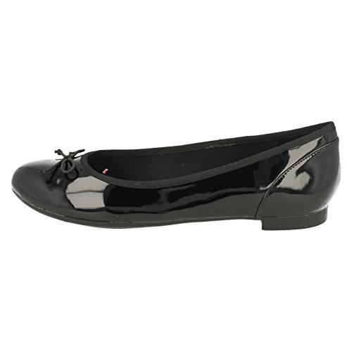 Clarks Couture Bloom, Ballerine Donna Nero vernice