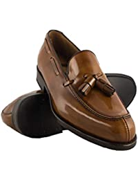 Zerimar Zapatos Castellanos Hombre | Mocasin Antifaz Hombre | Mocasin con Borlas para Hombre