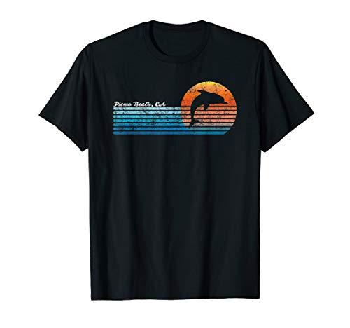 Vintage Pismo Beach, CA 80er Jahre Dolphin Sonnenuntergang T-Shirt