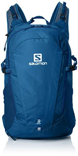 Salomon trailblazer 30, zaino da escursionismo/viaggio spazioso e pratico, 30 l, capacità di 25 l, lc1084100 unisex adulto, blu (poseidon)/grigio scuro (ebony), taglia unica