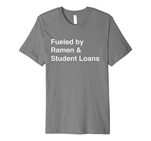 Broke College Student Funny Ramen Student Loan Gift T-Shirt