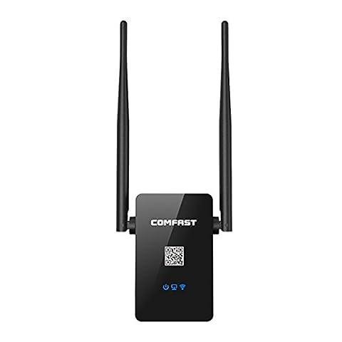 Amplificateur Chambre - MECO Répéteur Wifi 750 Mbps 802.11 ac,Bi-Bande