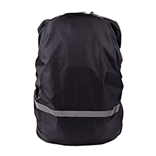 Rekkle Waterproof Backpack Cover Hiking Camping Traveling Outdoor Reflective Tape Rucksack Rain Cover