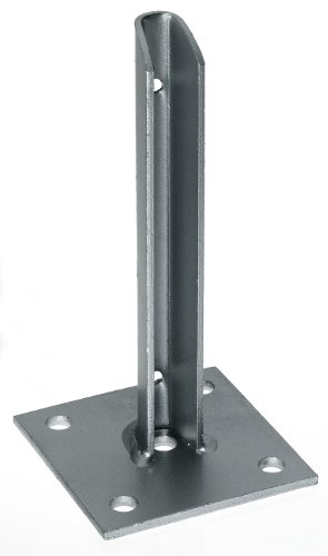 GAH-Alberts 658632 Pfostenträger, für verkürzte Zaunpfosten, feuerverzinkt, 100 x 100 x 200 mm, für Posten Ø34 mm
