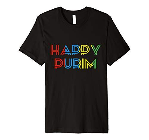 Glückliches Purim cooles T-Shirt jüdisches lustiges ()