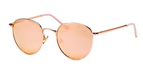 Filtral Runde Damen-Sonnenbrille aus Metall/Mit rosegold verspiegelten Gläsern F3021129