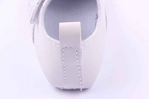 Lukis Baby Mädchen Gestickte Ballerina Festliche Tauf Schuhe Lauflernschuhe Weiß GMS0SvBxX
