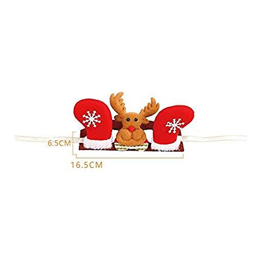 Tonsee Weihnachten Hund Katze Kopfschmuck Rentier Haarreif Headbands Dekoration Zubehör Niedlich Einstellbar Hut mit Blumen Rot Haarband Haarschmuck Kostüm Schmuck Tier Zubehör (22.5x7cm, (Niedliche Tiere Weihnachten Kostüm)