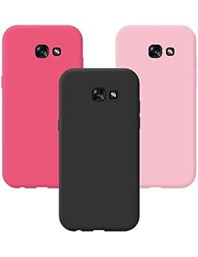 AllDo 3X Custodia per Samsung Galaxy A5 2017 SM-A520F Cover Morbida TPU Custodia in Silicone Cover Gomma Protettiva...