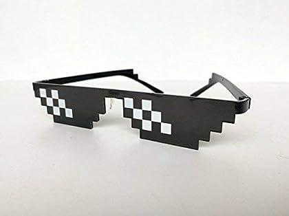Thug Life Glasses Mosaic Masculine 8 bits Style...