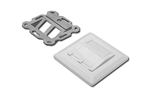 5x Leerdose für Keystone Module, Rahmen 80x80mm + Zentralplatte 50x50mm, Digitus® [DN-93801-1] 50 Mm-modul