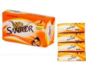 Santoor Sandal and Turmeric Soap, 50g (Pack of 4)