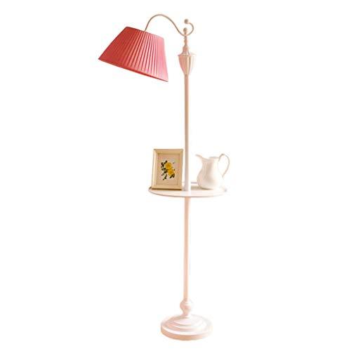 Lampadaire Lampadaire En Fer Forgé Élégant Lampadaire Vertical Créatif Lampadaire Pour Chambre De Jeune Fille Lampe De Table Haute De Salon Rose Lumière Tamisée (Color : Pink)