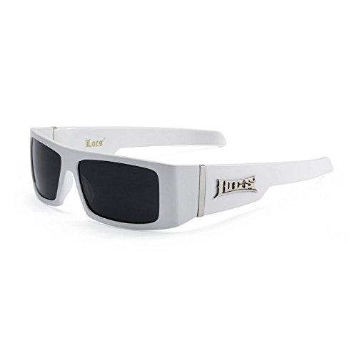 Locs Neue Hardcore Gangsta Biker Sonnenbrille 40 Einheitsgröße Weiss