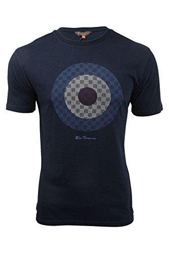 Herren T-Shirt von Ben Sherman Zeilscheibe, kurzärmlig Navy Blazer
