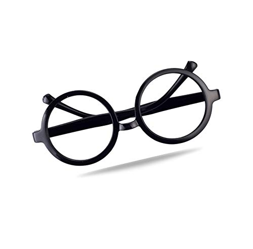 TK Gruppe Timo Klingler 1x Brille mod. Harry Rundbrille schwarz ohne Stärke für Kinder, Damen und Herren als Kostüm für Karneval und Fasching wie Potter ()