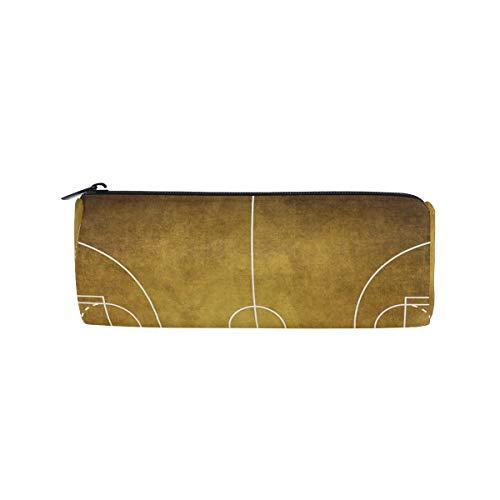 Federmäppchen in Zylinderform, Vintage, Basketball, Pad, Schreibwaren, Tasche mit Reißverschluss (Billig In Basketbälle Bulk)