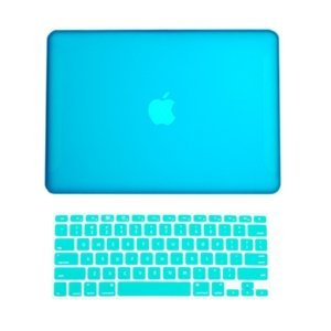 Topideal 2en 1mate esmerilado carcasa rígida Carcasa para 13pulgadas blanco Unibody MacBook 13(modelo: A1342/Liberado después de octubre de 2009) + Keyboard Cover, plástico, aguamarina, 13 pulgadas