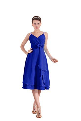 Bridal_Mall - Robe - Sans Manche - Femme Bleu - Koenigsblau