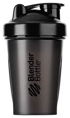 BlenderBottle Classic Shaker   Eiweiß Shaker   Diät Shaker   Protein Shaker mit Blenderball 590ml - Black